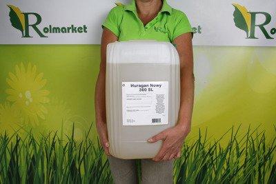 Huragan Nowy 360SL 20L – środek chwastobójczy (herbicyd) na wszystkie rodzaje chwastów, zamiennik Roundup