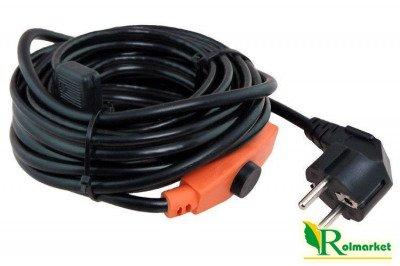 Kabel grzewczy 4m z energooszczędnym termostatem 64 W  + opaski kablowe 100szt Gratis!