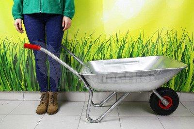 Lekka, ocynkowana taczka ogrodowa 70 litrów Robi R980