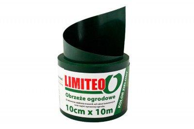 Obrzeże trawnikowe ogrodowe zielone, proste 10cm x 10m LIMITEO