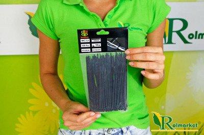 Opaski kablowe czarne 3,6x150 mm (100 szt.)