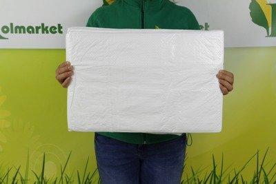 Plandeka okryciowa biała 6x8m